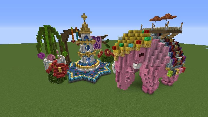 Minecrafterししゃもがマインクラフトでぷっこ村にピンクの象様区を作って観光振興する3