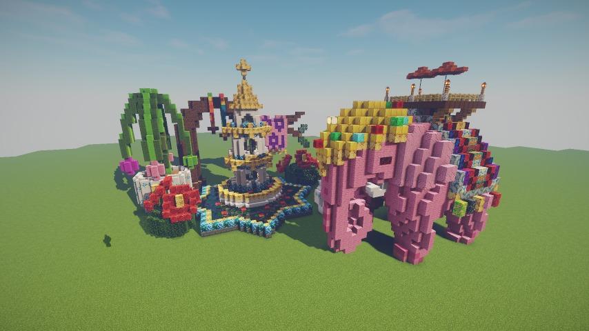 Minecrafterししゃもがマインクラフトでぷっこ村にピンクモスクの内装を仕上げる14