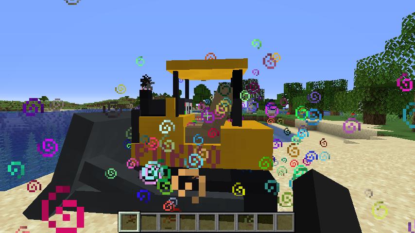 Minecrafterししゃもがマインクラフトで作ったブルドーザーが追加されるデータパック「Bulldozer」を紹介する7