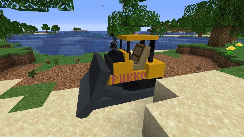 Minecrafterししゃもがマインクラフトで作ったブルドーザーが追加されるデータパック「Bulldozer」を紹介する14