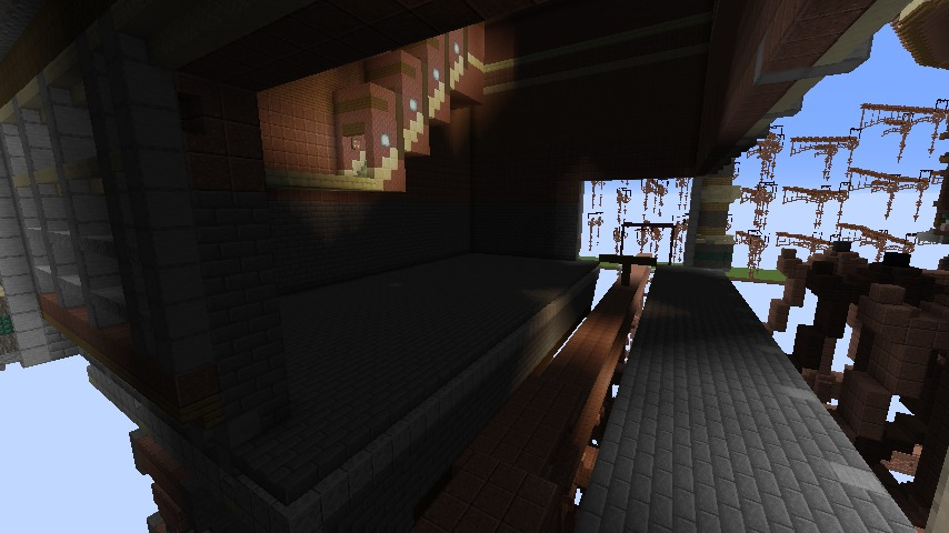 Minecrafterししゃもがマインクラフトでぷっこ村の空中都市プコサヴィルの南駅構内と周辺を作るよ2