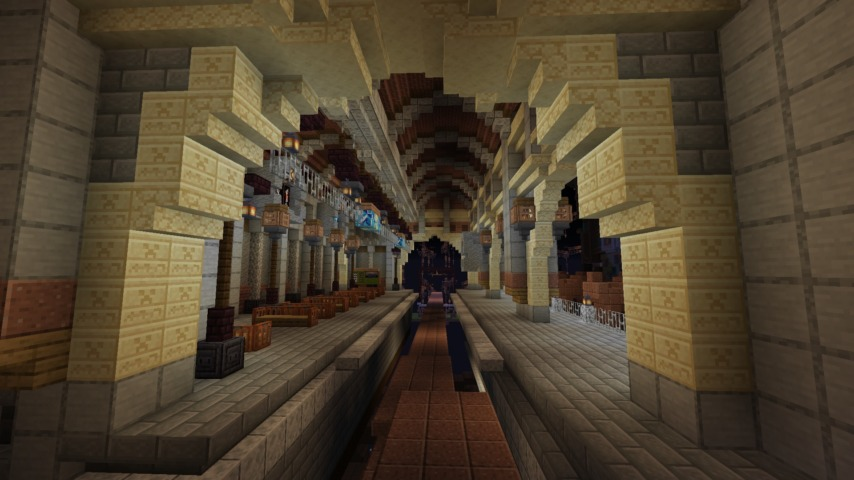 Minecrafterししゃもがマインクラフトでぷっこ村の空中都市プコサヴィルの南駅構内と周辺を作るよ5