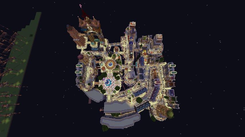 Minecrafterししゃもがマインクラフトでぷっこ村の空中都市プコサヴィルの南駅構内と周辺を作るよ7