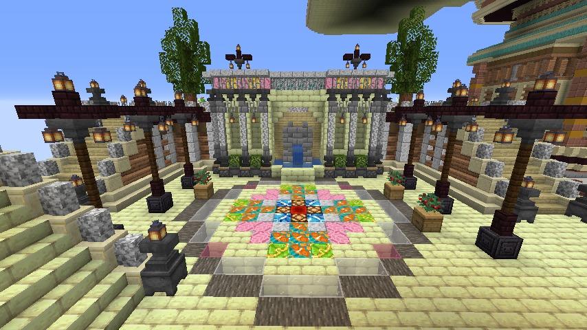 Minecrafterししゃもがマインクラフトでぷっこ村の空中都市プコサヴィルの西側を完成させる6