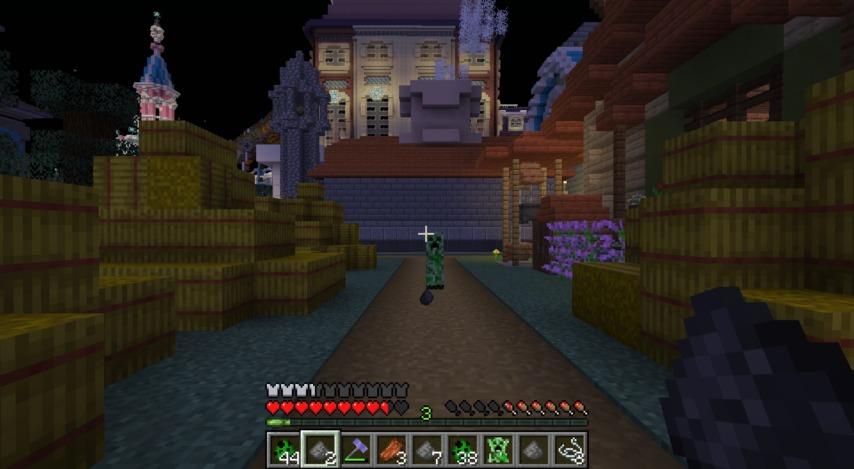 Minecrafterししゃもがマインクラフトで作ったクリーパーを飼えるデータパック「Creeper Ranch」を紹介する5