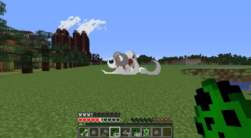 Minecrafterししゃもがマインクラフトで作ったクリーパーを飼えるデータパック「Creeper Ranch」を紹介する21