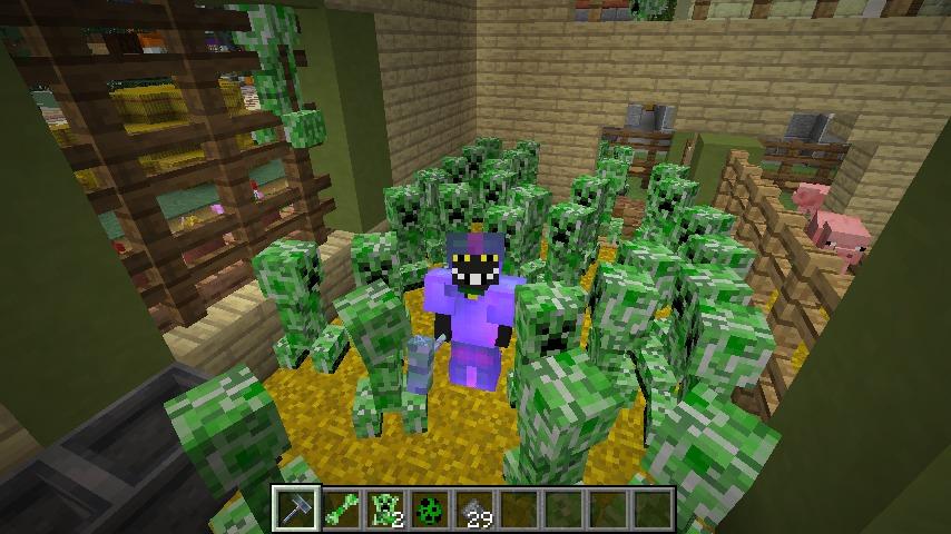 Minecrafterししゃもがマインクラフトで作ったクリーパーを飼えるデータパック「Creeper Ranch」を紹介する23