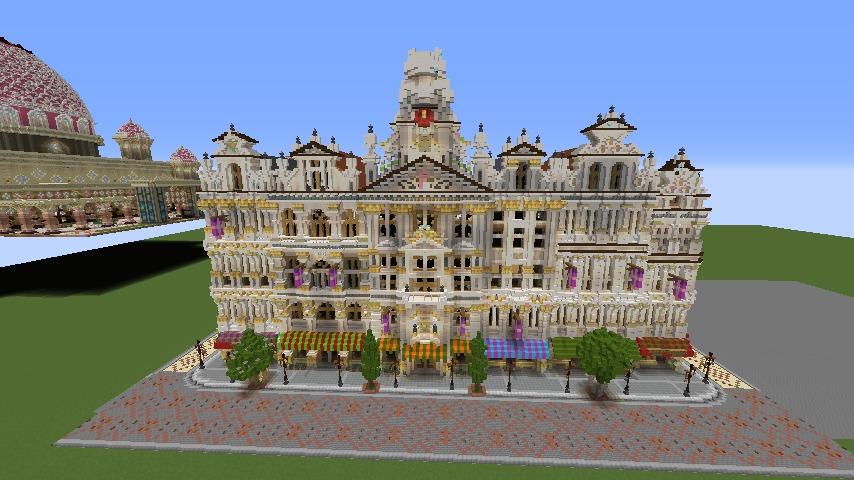 Minecrafterししゃもがマインクラフトでぷっこ村にギルドハウスをモデルにした建築物を建てる1