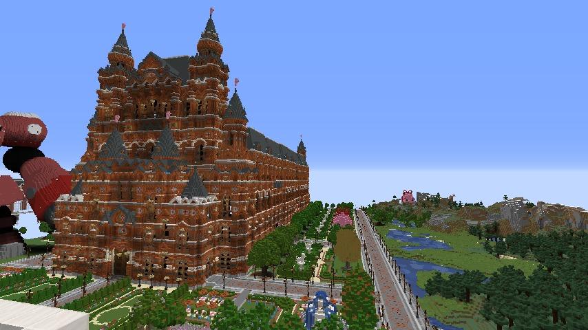 Minecrafterししゃもがマインクラフトでぷっこ村にギルドハウスをモデルにした建築物を建てる3