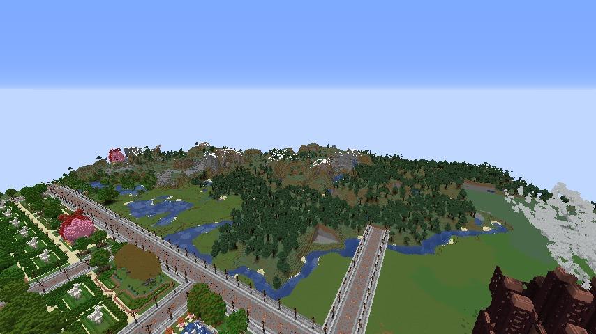 Minecrafterししゃもがマインクラフトでぷっこ村にギルドハウスをモデルにした建築物を建てる4