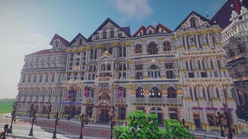 Minecrafterししゃもがマインクラフトでぷっこ村にギルドハウスをモデルにした建築物を建てる7