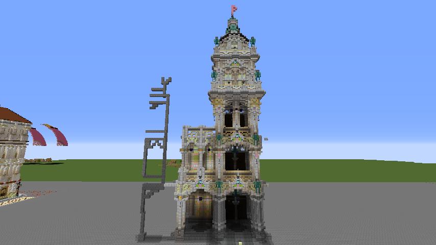 Minecrafterししゃもがマインクラフトでぷっこ村にMaison du Roi をモデルにしたお屋敷を建築する1