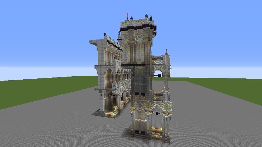 Minecrafterししゃもがマインクラフトでぷっこ村にMaison du Roi をモデルにしたお屋敷を建築する3