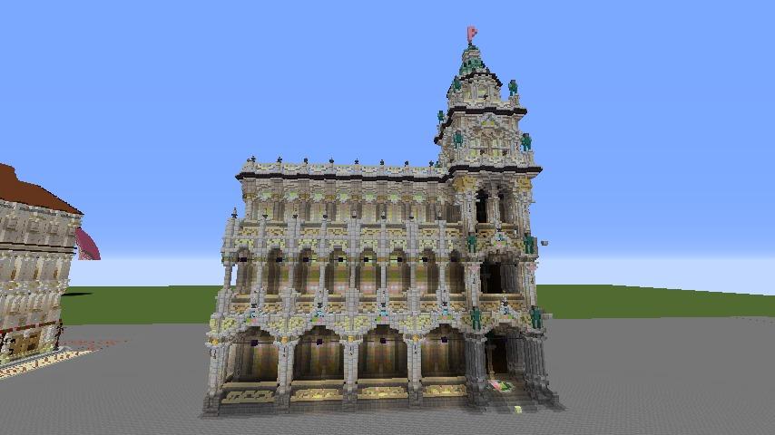Minecrafterししゃもがマインクラフトでぷっこ村にMaison du Roi をモデルにしたお屋敷を建築する2