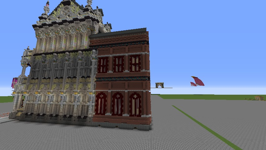 Minecrafterししゃもがマインクラフトでぷっこ村にMaison du Roi をモデルにしたお屋敷を建築する7