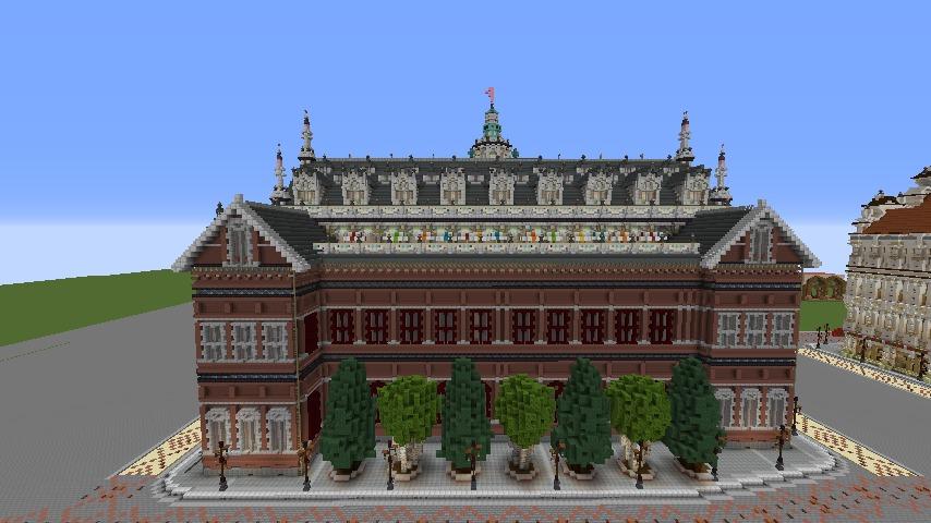 Minecrafterししゃもがマインクラフトでぷっこ村にMaison du Roi をモデルにしたお屋敷を建築する8