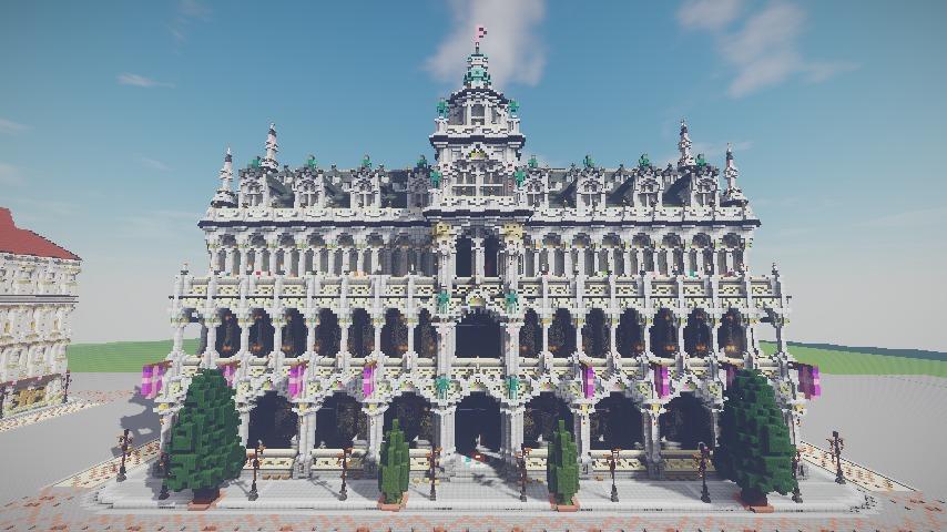 Minecrafterししゃもがマインクラフトでぷっこ村にMaison du Roi をモデルにしたお屋敷を建築する10