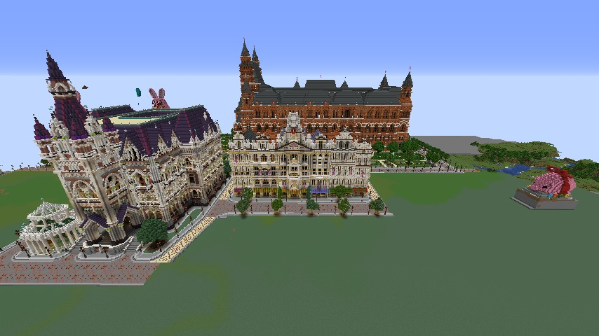Minecrafterししゃもがマインクラフトでぷっこ村にMaison du Roi をモデルにしたお屋敷を移築する2
