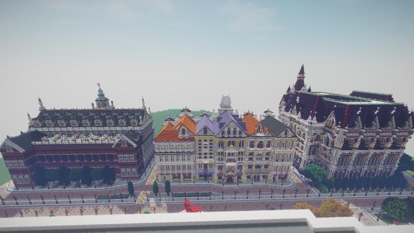 Minecrafterししゃもがマインクラフトでぷっこ村にMaison du Roi をモデルにしたお屋敷を移築する4