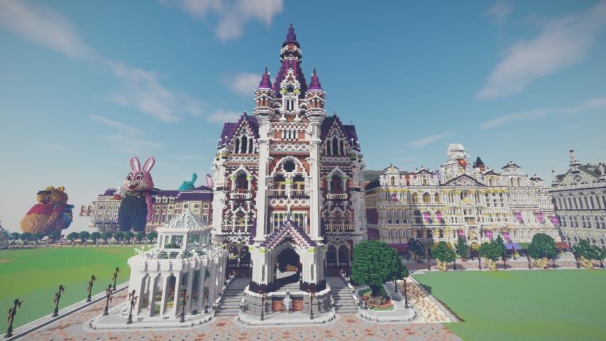 Minecrafterししゃもがマインクラフトでぷっこ村にMaison du Roi をモデルにしたお屋敷を移築する6