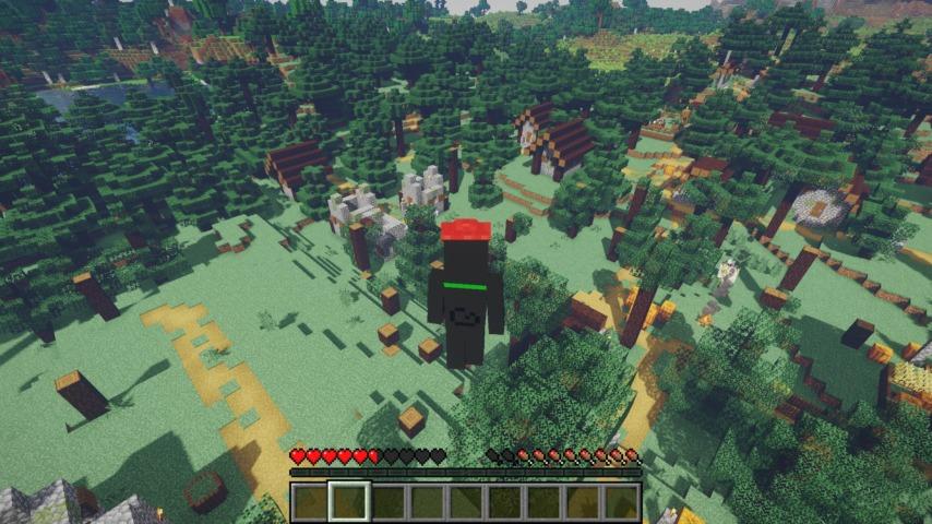 Minecrafterししゃもがマインクラフトで作ったマリオ的な力を付与する帽子を追加するデータパック「Higemaniax」を紹介する7