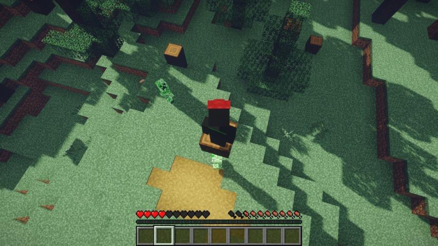 Minecrafterししゃもがマインクラフトで作ったマリオ的な力を付与する帽子を追加するデータパック「Higemaniax」を紹介する8