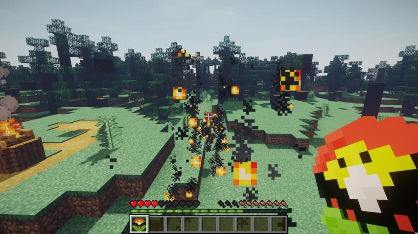 Minecrafterししゃもがマインクラフトで作ったマリオ的な力を付与する帽子を追加するデータパック「Higemaniax」を紹介する12