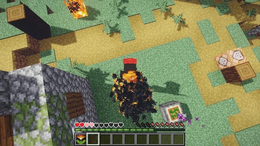 Minecrafterししゃもがマインクラフトで作ったマリオ的な力を付与する帽子を追加するデータパック「Higemaniax」を紹介する13