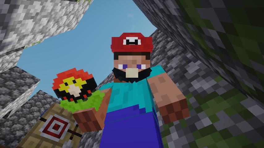Minecrafterししゃもがマインクラフトで作ったマリオ的な力を付与する帽子を追加するデータパック「Higemaniax」を紹介する2