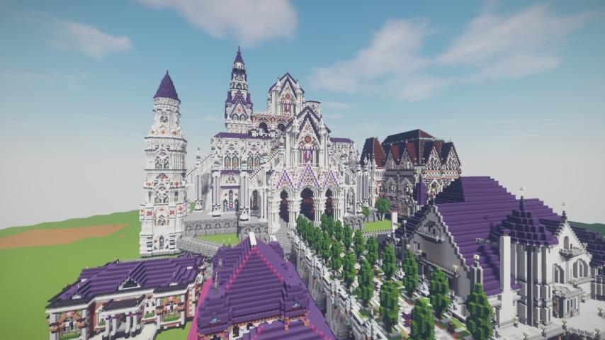 Minecrafterししゃもがマインクラフトでファンタジーなお城を建築する1