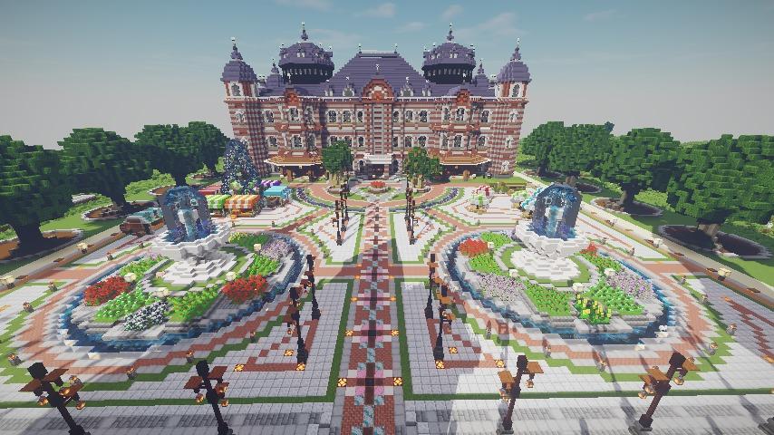 Minecrafterししゃもがマインクラフトで作った配布マップ「未来ある中央区」の解説3
