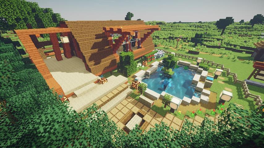 Minecrafterししゃもがマインクラフトで作った配布マップ「未来ある中央区」の解説4
