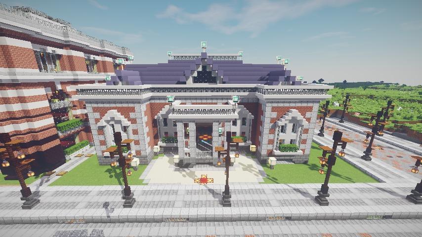 Minecrafterししゃもがマインクラフトで作った配布マップ「未来ある中央区」の解説7