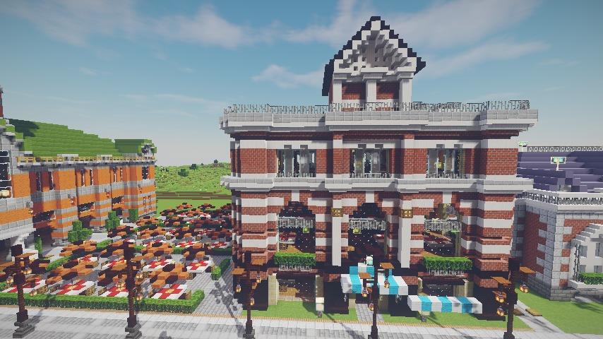 Minecrafterししゃもがマインクラフトで作った配布マップ「未来ある中央区」の解説6