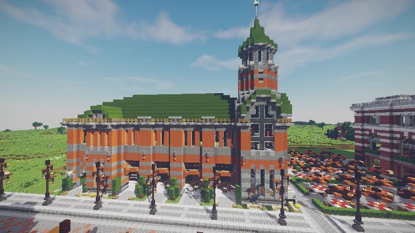 Minecrafterししゃもがマインクラフトで作った配布マップ「未来ある中央区」の解説5