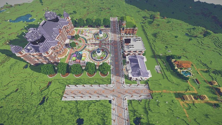 Minecrafterししゃもがマインクラフトで作った配布マップ「未来ある中央区」の解説2