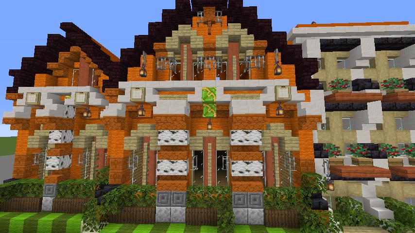 Minecrafterししゃもがマインクラフトでぷっこ村に作ってるベルギーっぽい区でボツを出してしまった話8