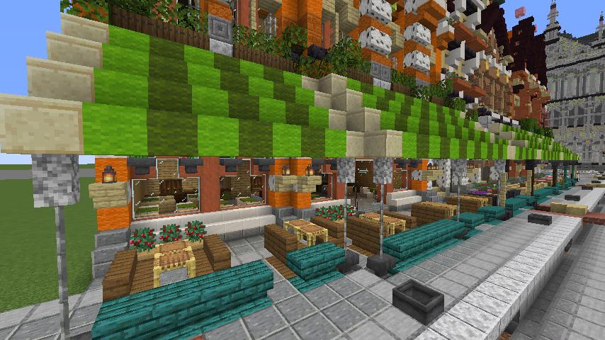 Minecrafterししゃもがマインクラフトでぷっこ村に作ってるベルギーっぽい区でボツを出してしまった話10