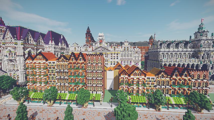 Minecrafterししゃもがマインクラフトでぷっこ村に作ってるベルギーっぽい区でボツを出してしまった話17