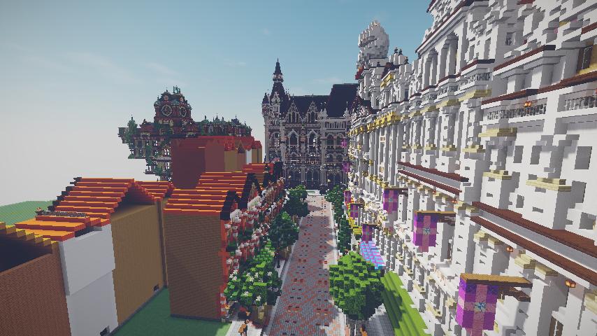 Minecrafterししゃもがマインクラフトでぷっこ村に作ってるベルギーっぽい区でボツを出してしまった話14