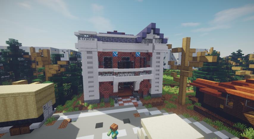 Minecrafterししゃもがマインクラフトで作った、ゾンビだらけの崩壊した都市でサバイバルするディメンションを追加するデータパック「Zombrella」を紹介する15