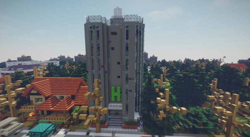 Minecrafterししゃもがマインクラフトで作った、ゾンビだらけの崩壊した都市でサバイバルするディメンションを追加するデータパック「Zombrella」を紹介する11
