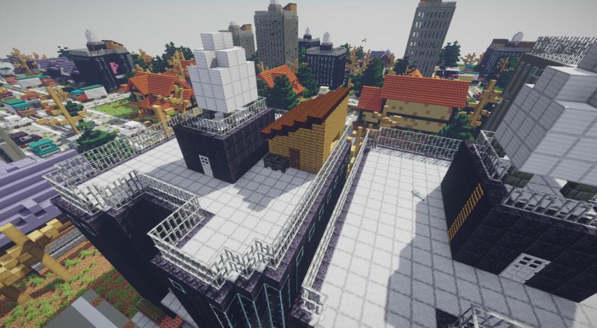 Minecrafterししゃもがマインクラフトで作った、ゾンビだらけの崩壊した都市でサバイバルするディメンションを追加するデータパック「Zombrella」を紹介する12
