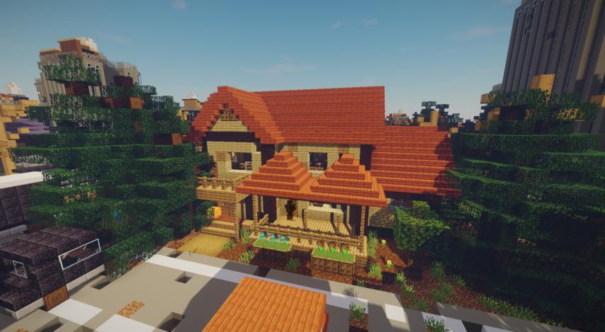 Minecrafterししゃもがマインクラフトで作った、ゾンビだらけの崩壊した都市でサバイバルするディメンションを追加するデータパック「Zombrella」を紹介する17