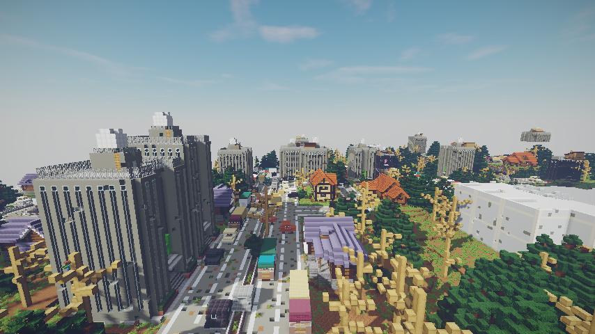 Minecrafterししゃもがマインクラフトで作った、ゾンビだらけの崩壊した都市でサバイバルするディメンションを追加するデータパック「Zombrella」を紹介する29