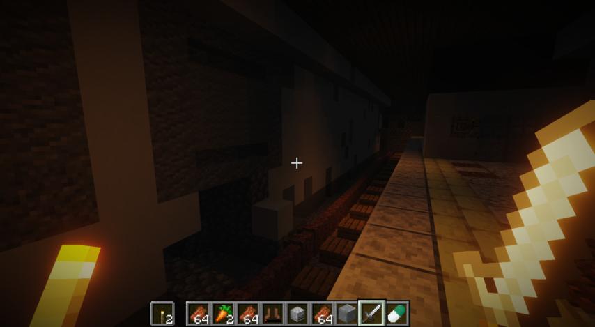 Minecrafterししゃもがマインクラフトで作った、ゾンビだらけの崩壊した都市でサバイバルするディメンションを追加するデータパック「Zombrella」の Season2から追加された下水道入り口