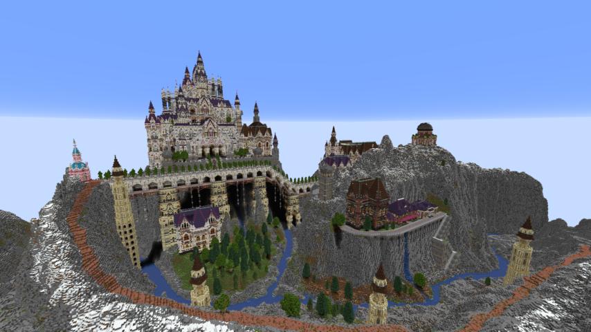 データパックで高度限界を上げてファンタジーな城をぷっこ村に作る1