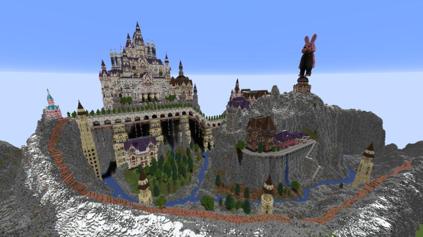 データパックで高度限界を上げてファンタジーな城をぷっこ村に作る2
