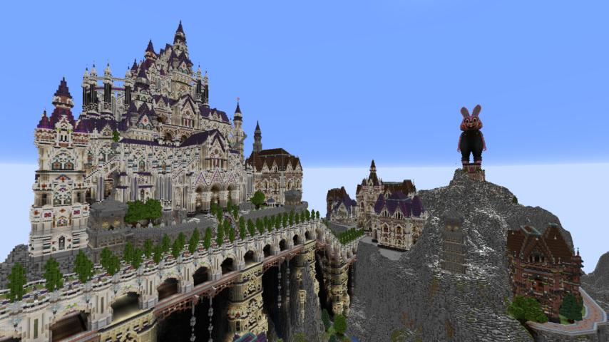 データパックで高度限界を上げてファンタジーな城をぷっこ村に作る3