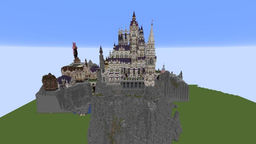 データパックで高度限界を上げてファンタジーな城をぷっこ村に作る4